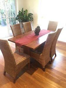 Dining table and 6 chairs - Balinese Freshwater Manly Area Preview