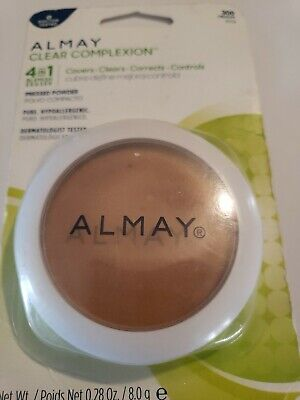 Almay Clear Complexion Face Powder 4 In 1 Blemish Eraser 300 Medium  Almay Clear Complexion Powder