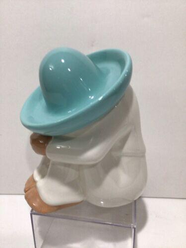 Homco Sleeping Pedro Siesta Mexican Figurine Sombrero Glazed Ceramic