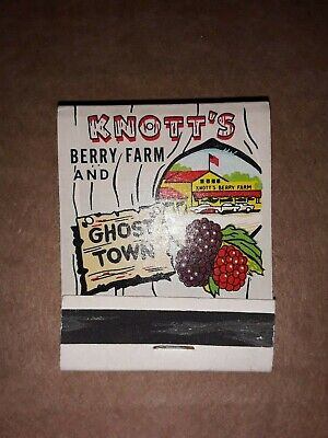 California's Knott's Berry Farm And Ghost Town Match Book
