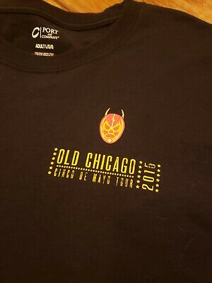 Cinco De Mayo Old Chicago TShirt,  Size L  LaLucha mask  FREE SHIPPING