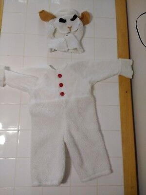 Vtg Handmade Lamb Costume White 3 years old Toddler Costume Cosplay Sheep Play