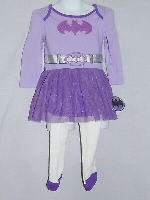 NEW Batgirl Outfit Costume Dress Leotards Tutu Baby Girls Tights Newborn-24M