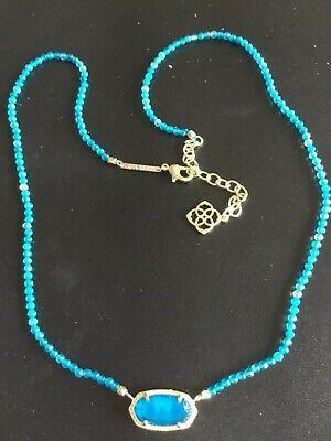 Kendra Scott Elisa Blue Agate Beaded pendant Necklace Retail $75 New Beaded Blue Agate Necklace