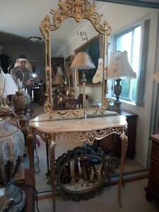 antique console mirror marble set Concord West Canada Bay Area Preview