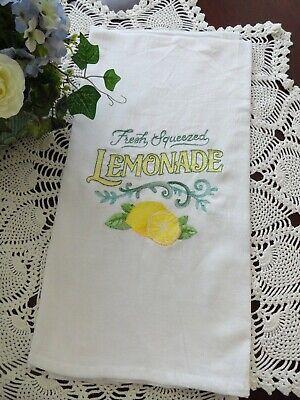 Fresh Flour (Summer Time Fresh Squeezed Lemonade Flour Sack Country Kitchen Towel Retro Style )