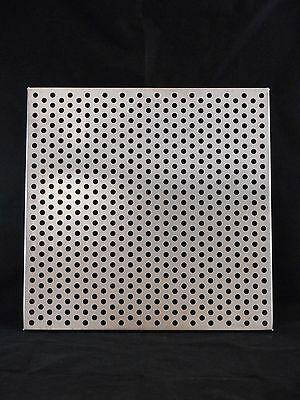 "Laboratory Stainless Steel Perforated Incubator Shelf 17-7/8"" x 17-7/8"""