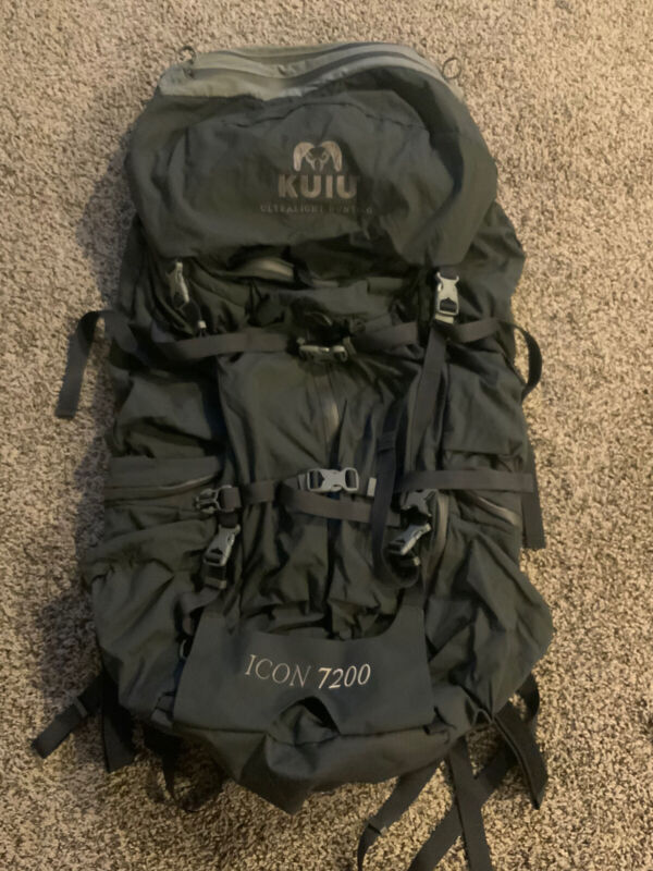 New Kuiu Icon 7200 Slate Grey Outdoor Hunting Large Pack (bag only)