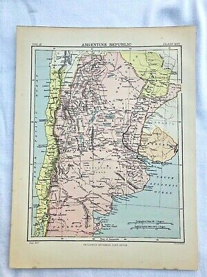 circa 1880s map of argentine republic ( adam & charles black )