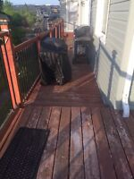 Looking for someone to paint the deck