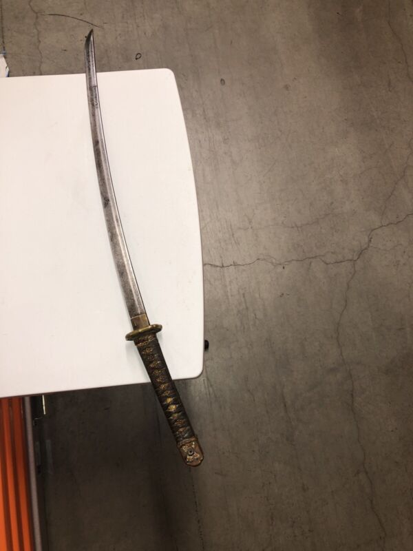 WW2 JAPANESE OFFICERS Katana SWORD No Scabbard Or Sheath Included Militaria