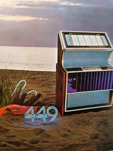 Rock Ola 449 Miniature Musical Mint Jukebox FLYER Original NOS Phonograph 1972