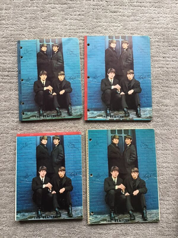 THE BEATLES 1964 SET OF NOTEBOOKS