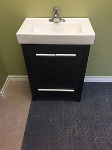 Vanity cabinet and faucet