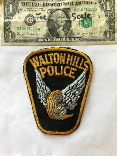 Waltonhills Ohio Police Patch un-sewn in great shape
