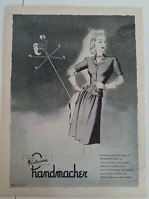 1946 women's Handmacher suit weather vane illustration art vintage ad