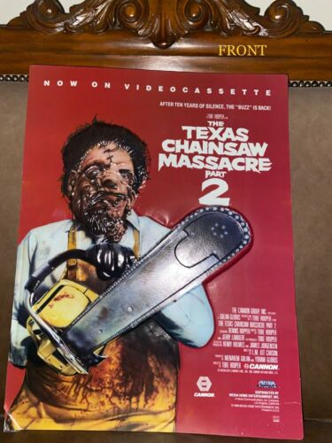 Texas Chainsaw Massacre Poster with original box from 1985
