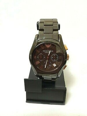 Used Emporio Armani Men's Fashion Ceramic Quartz Chronograph Watch