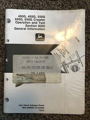John Deere 450g 455g 550g 555g 650g Crawler Technical Manual Tm1403