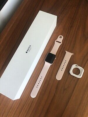 Apple Watch Series 3 42mm Rose Gold Aluminium Case with Pink Sand Sport Band GPS