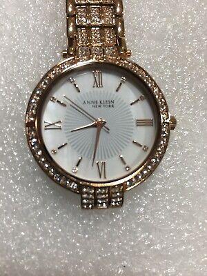 Anne Klein 12/2286MPRG Rose Gold Swarovski Crystal Accented Women's Watch READ