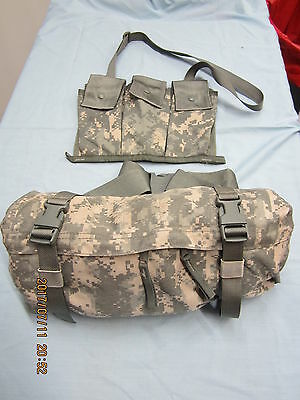 6 Mag Bandoleer & MOLLE II Waist Pack – Butt/Fanny Hip Bag ACU US Military *