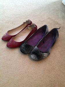 Two Pairs of Flats, size 10/11