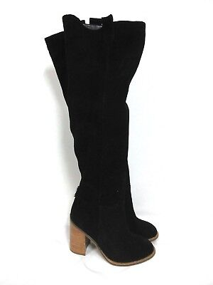 Kelsi Dagger Brooklyn Harman Over the Knee Black Suede Boots Size 7