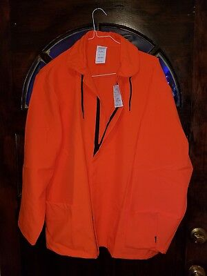 Farm And Fleet Mens Large Hunting Safety  Orange Reflective  Windbreaker    Wb2