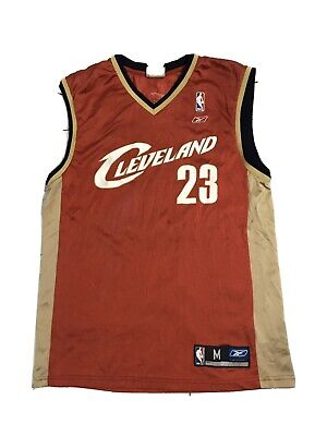 Lebron James Nba Jersey Mens Medium Reebok Cleveland Cavaliers 23 King LBJ