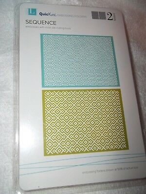 "Quickutz//Lifestyle Crafts EF-0008  /""Bloom/""  2 Embossing Folders  NEW"