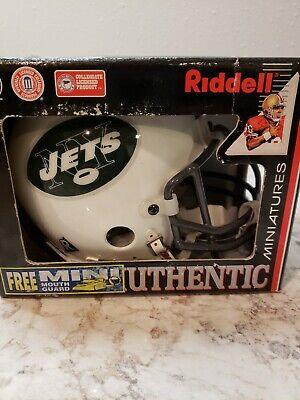 Riddell NFL New York Jets Authentic Throwback  (Authentic Riddell Mini Helmet)