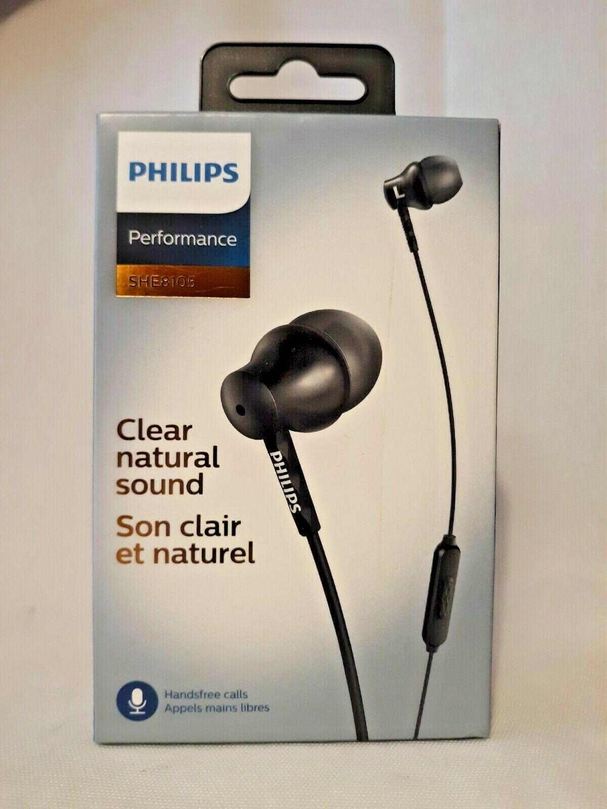 Philips She8105bk/27 In-ear Headphones With Mic, Black