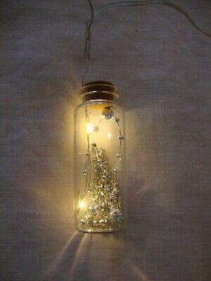 Halloween Holiday Glass and Glitter String Light Garland
