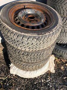 195/60 R15, 4 WINTER ARCTIC tires with rims..