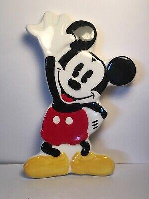 Mickey Mouse Soap Dish Ceramic Decor Disney kitchen bathroom treasure craft