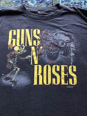 Vintage GUNS N' ROSES 1987 BANNED CONCERT T-SHIRT AXL ROSE Original