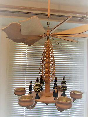 Deckenpyramide, Drehleuchter, Weihnacht, Erzgebirge, Holzkunst
