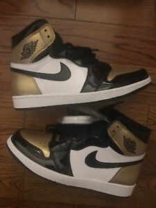 "Jordan 1 ""Gold Toe"" (10) + Jordan 3 ""Black Cement"" (9.5)"