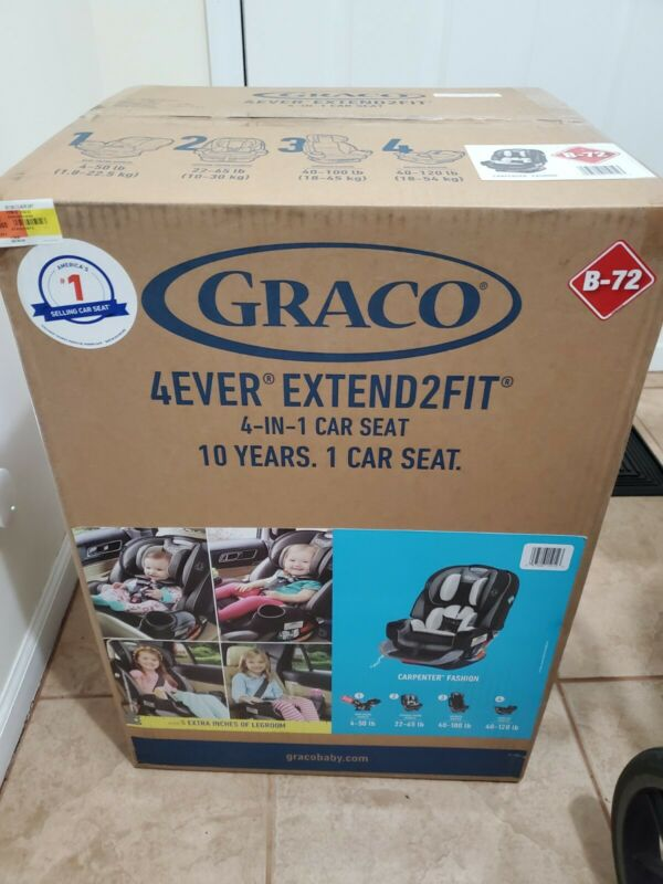 Graco 4ever Extend2fit 4-in-1 Car Seat (Carpenter)