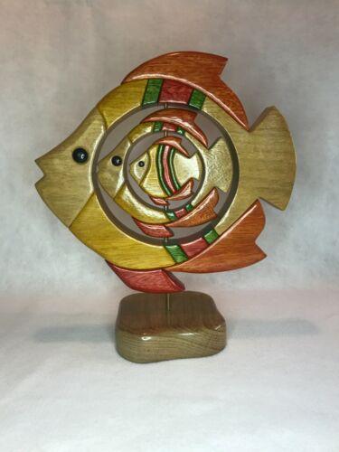 Multiple Fish Wood Figure