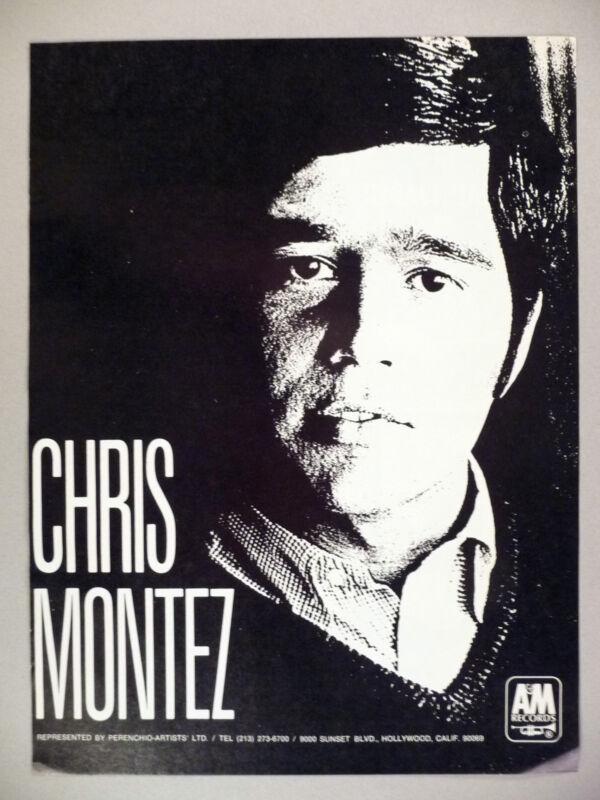 Chris Montez PRINT AD - 1968
