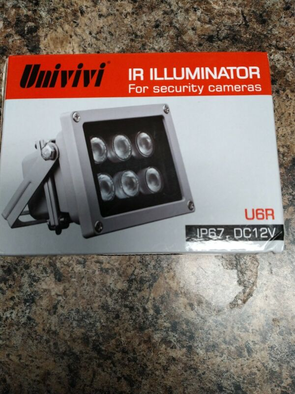 Univivi Infrared Illuminator, 850nm 6 LEDs 60 Degree Wide Angle IR Illuminato...