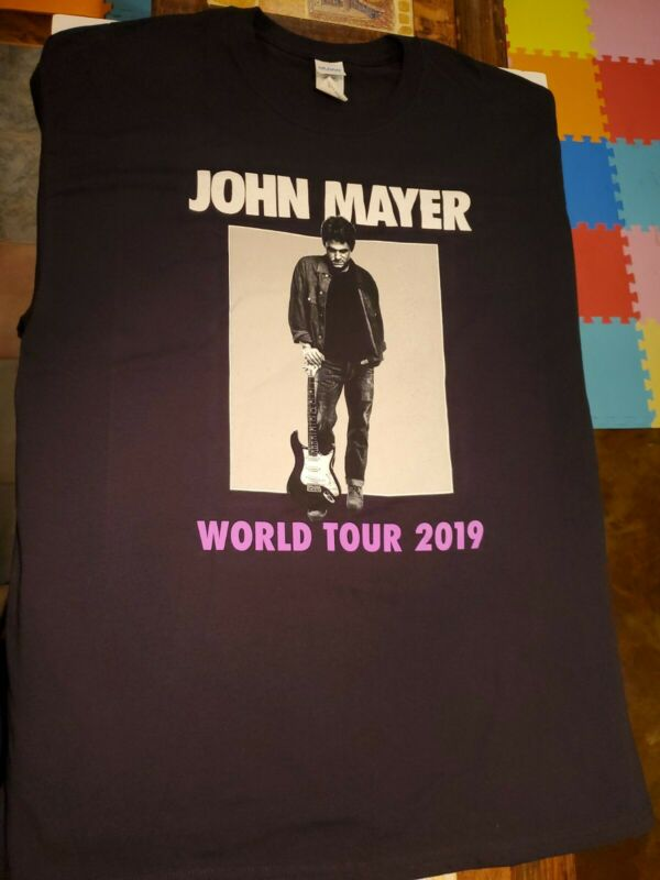 Authentic John Mayer World Tour 2019 Mens Sz XL Tee Shirt
