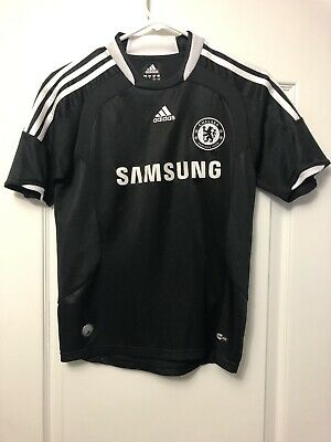 Chelsea Football Club adidas CLIMACOOL 2008-09 Black Soccer Jersey Youth Medium image