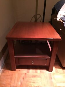 Set of 3 solid wood tables (coffee, side and console)