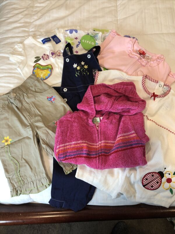 New Lot Of Girls Clothes Size 18m (circo, Healthtex, Gymboree) 7 Piece Lot