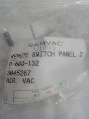 Dentalez Ramvac Utility Remote Switch Panel 2  Pn 8-600-132 Airvac