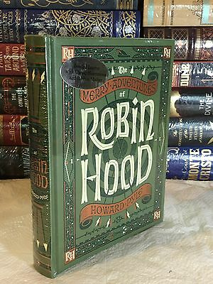 MERRY ADVENTURES OF ROBIN HOOD by HOWARD PYLE Illustrated, Leather & BRAND NEW!
