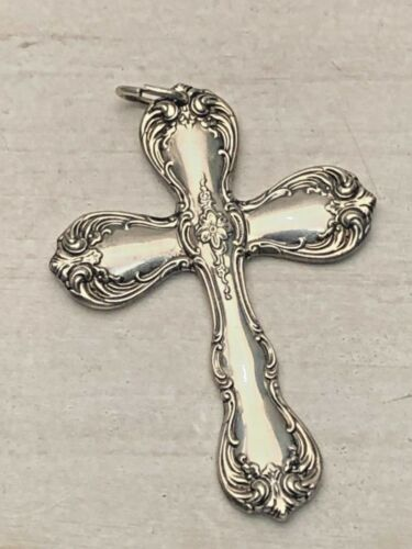 Towle Cross Pendant/ Ornament, Sterling Silver, gently used. mid century